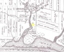 Showing approximate location of cemetery; Meacham's Illustrated Historical Atlas of PEI, 1880