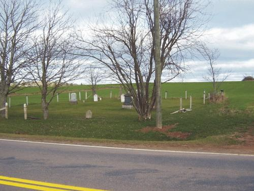 View of cemetery near the Brackley Point Road