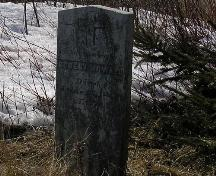 Tombstone of Robert Howard; PEI Genealogical Society, 2006
