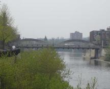 View looking south depicting the bridge spanning the Grand River.; Kayla Jonas, 2007.