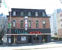 Exterior view of the Yale Hotel; City of Vancouver, 2007