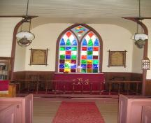 Showing interior with stained glass window; Province of PEI, 2007