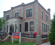 This image shows the front façade of the building, 2008; Province of New Brunswick