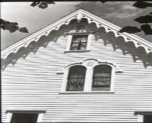 Detail of window in the south gable; Canadian Inventory of Historic Buildings, 1971