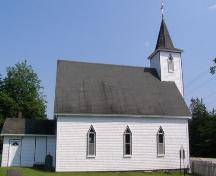 West elevation, St. George's Anglican Church, East River, Nova Scotia, 2007.; Heritage Division, Nova Scotia Department of Tourism, Culture and Heritage, 2007