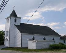 Front elevation with east profile, St. George's Anglican Church, East River, Nova Scotia, 2007.; Heritage Division, Nova Scotia Department of Tourism, Culture and Heritage, 2007