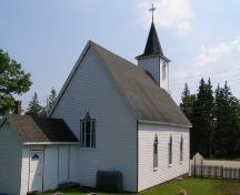 North elevation with west profile, St. George's Anglican Church, East River, Nova Scotia, 2007.; Heritage Division, Nova Scotia Department of Tourism, Culture and Heritage, 2007