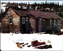 Front facade of Richard (Dick) White's Trading Post, Kauk Harbour, near Nain, Labrador.; HFNL 2005