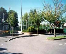 Exterior view of the Brighouse Lacrosse Box, 2001; Julie MacDonald Heritage Consulting.