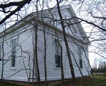 Rear elevation of the Amherst Point Baptist Church, Amherst Point, NS, 2009.; Heritage Division, NS Dept of Tourism, Culture and Heritage, 2009