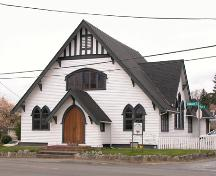 Exterior view of the Wilkinson Road Methodist Church.; Derek Trachsel, District of Saanich, 2004.