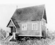Church of St. John the Evangalist shortly after construction.; North Vancouver Museum and Archives, #10493