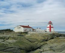 Head Harbour Light Station - seaside view; Province of New Brunswick