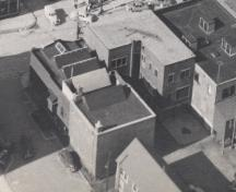 Aerial view of building, c. 1951; MacNaught Archives Acc. 018.5
