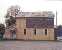 Side of St. John's Parish Hall, in repair; Haldimand County 2007