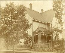 Archive image of the M.P. Hogan House, c. 1900; Private Collection