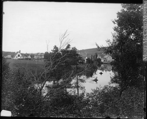 Showing Hunter River with church on left, c. 1915