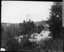 Showing Hunter River with church on left, c. 1915; William Notman & Son, McCord Museum, View 8259