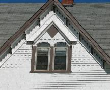 Detail of Gothic window and shingle patterns; Province of PEI, Carter Jeffery, 2008