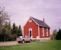 View of Little Red School House with original gable window, ca. 1990.; Heritage Division, NS Dept of Tourism, Culture and Heritage, 2009