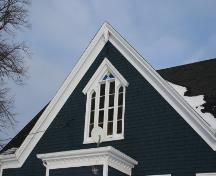 Showing detail of Gothic window; Province of PEI, Donna Collings, 2007