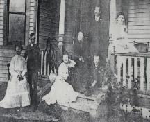 The Morson family posing near their house, c. 1910; Private Collection