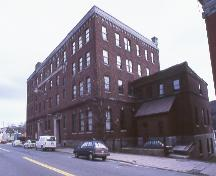 View of front facade and right side, King George V Building, 93 Water Street, St. John's.; HFNL 2005
