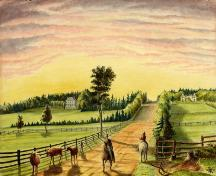 Robert Harris painting of Mount Edward Road, 1871; Confederation Centre Art Gallery