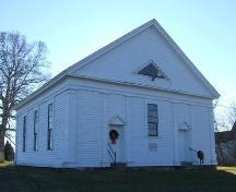 Front elevation, Warren Baptist Church, Hastings, NS, 2009.; Heritage Division, NS Dept of Tourism, Culture and Heritage, 2009
