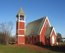 Rear elevation of the Church of Good Shepherd, Tidnish Cross Roads, NS, 2009.; Heritage Division, NS Dept of Tourism, Culture and Heritage, 2009