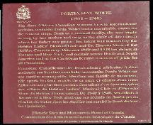 Zion Baptist Church, Truro, historic site plaque, 2004; Heritage Division, NS Dept. of Tourism, Culture and Heritage, 2004