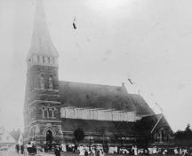 Archival image of church and grounds, c. 1900; St. Paul's Parish