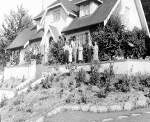 Eagles House and Garden, circa 1940.; City of Burnaby Planning and Building Department, 2004