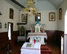 Interior view of St. Mary's Ukrainian Catholic Church, Gimli, 2006; Historic Resources Branch, Manitoba Culture, Heritage, Tourism and Sport, 2006