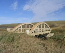 Eagle Creek Cement Bridge, facing north, 2005.; Government of Saskatchewan, Bisson, 2005