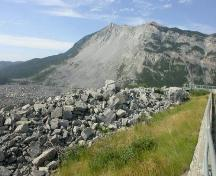 Frank Slide Provincial Historic Resource, Crowsnest Pass - north face of Turtle Mountain (June 2005); Alberta Culture and Community Spirit - Historic Resources Management, 2005