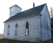 Rear and side elevations, King Seaman Church, Minudie, NS, 2009.; Heritage Division, NS Dept of Tourism, Culture and Heritage, 2009