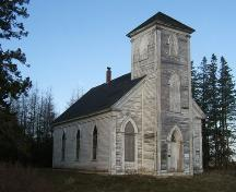Front elevation, King Seaman Church, Minudie, NS, 2009.; Heritage Division, NS Dept of Tourism, Culture and Heritage, 2009