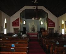 The Bethania Norwegian Evangelical Lutheran Church interior, 2008; Robertson, 2008