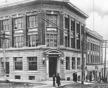 Exterior historic view of the Bank of Hamilton Chambers; North Vancouver Museum and Archives #4353