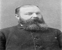 Photograph of Joseph E. Seagram the founder of J. E. Seagram's Distillery, circa 1880.; City of Waterloo Website, circa 1880.