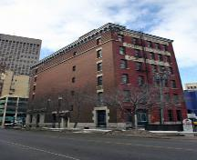 Secondary elevations, from the northeast, of the Galpern Building, Winnipeg, 2007; Historic Resources Branch, Manitoba Culture, Heritage, Tourism and Sport, 2007