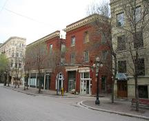 Contextual view, from the northeast, of the Albert Block ,Winnipeg, 2007; Historic Resources Branch, Manitoba Culture, Heritage, Tourism and Sport, 2007