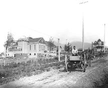 Central School under construction, 1907; North Vancouver Museum and Archives, #3178
