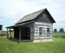 Front and side of the Hoover Log House; Haldimand County 2007