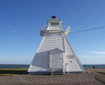 Front elevation, Spencer's Island Lighthouse, Spencer's Island, NS, 2009.; Heritage Division, NS Dept of Tourism, Culture and Heritage, 2009