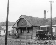 Coleman Union Hall / Hospital Provincial Historic Resource, Crowsnest Pass, Coleman (1922); Glenbow Archives, NA-4691-3