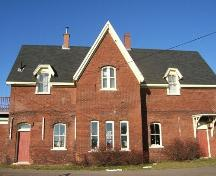 South-facing rear elevation, Pugwash Train Station, Pugwash, NS, 2009.; Heritage Division, NS Dept of Tourism, Culture and Heritage, 2009