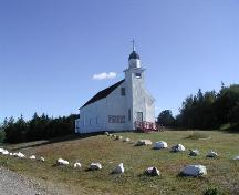 West view of Saint Margaret of Scotland Catholic Church, River Denys Mountain, Nova Scotia, 2002.; Inverness County Heritage Advisory Committe, 2002