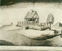 Historic drawing of McIntosh Memorial, 1932; City of Kamloops, 2007, Museum and Archives